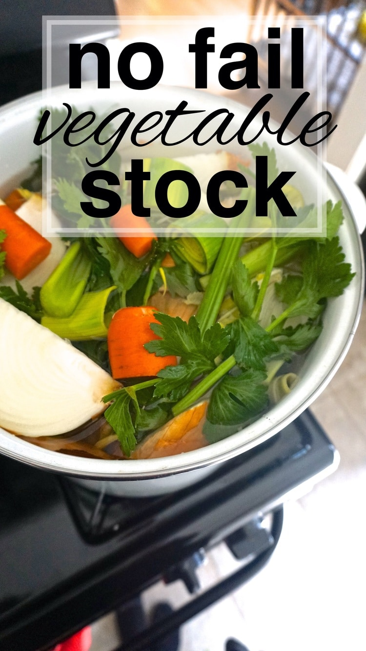No Fail Vegetable Stock
