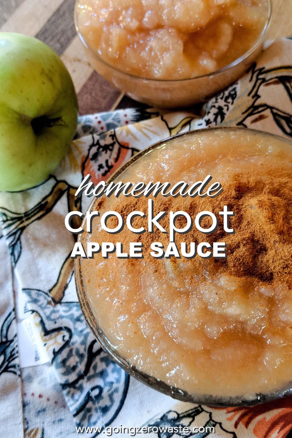 Homemade Crockpot Apple Sauce