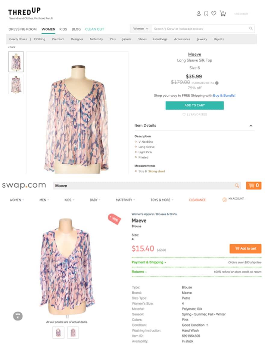 Online Thrift Store: ThredUP vs. Swap.com