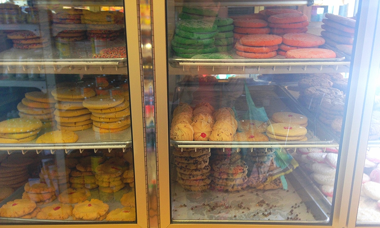 Cabinet of cookies available in bulk