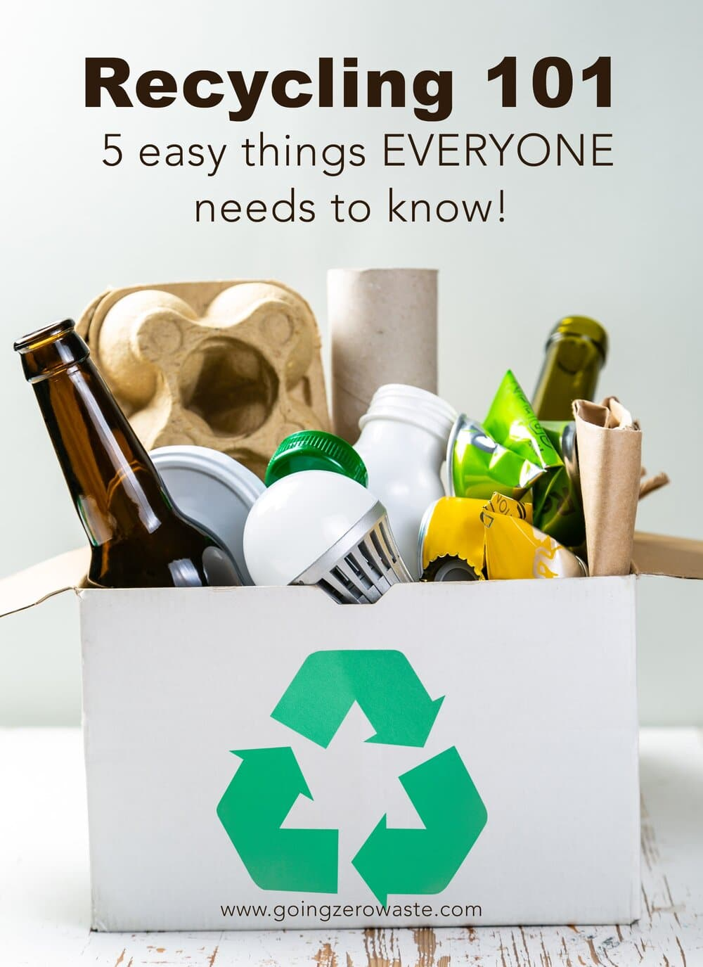 Recycling 101 - 5 Easy Things EVERYONE Needs to Know!