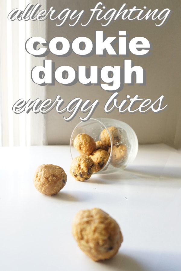 Allergy Fighting, Cookie Dough Energy Bites