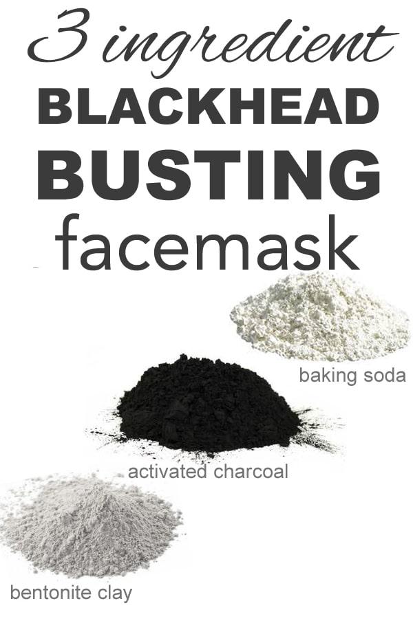 3 ingredient blackhead busting face mask from www.goingzerowaste #zerowaste #facemask #DIY #skincare