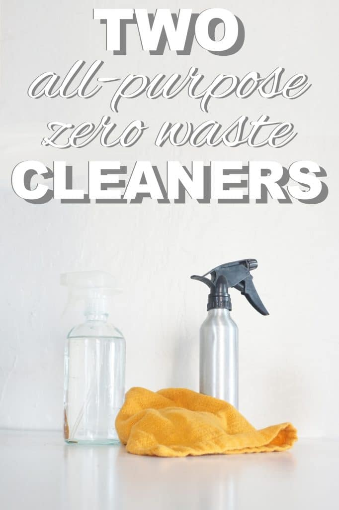 Two all purpose cleaners from www.goingzerowaste.com #cleaners #allpurpose #DIY #cleaning #allnatural #gogreen #ecofriendly