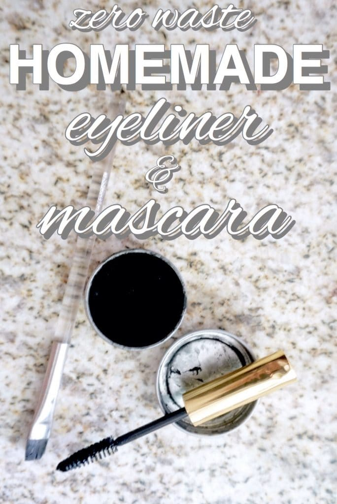 zero waste, homemade eyeliner and mascara from www.goingzerowaste.com #eyeliner #mascara #diy #skincare #makeup #zerowaste #ecofriendly #gogreen