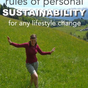 The Five Rules of Personal Sustainability