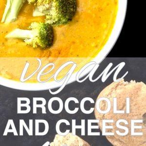Vegan Broccoli and Cheddar Soup