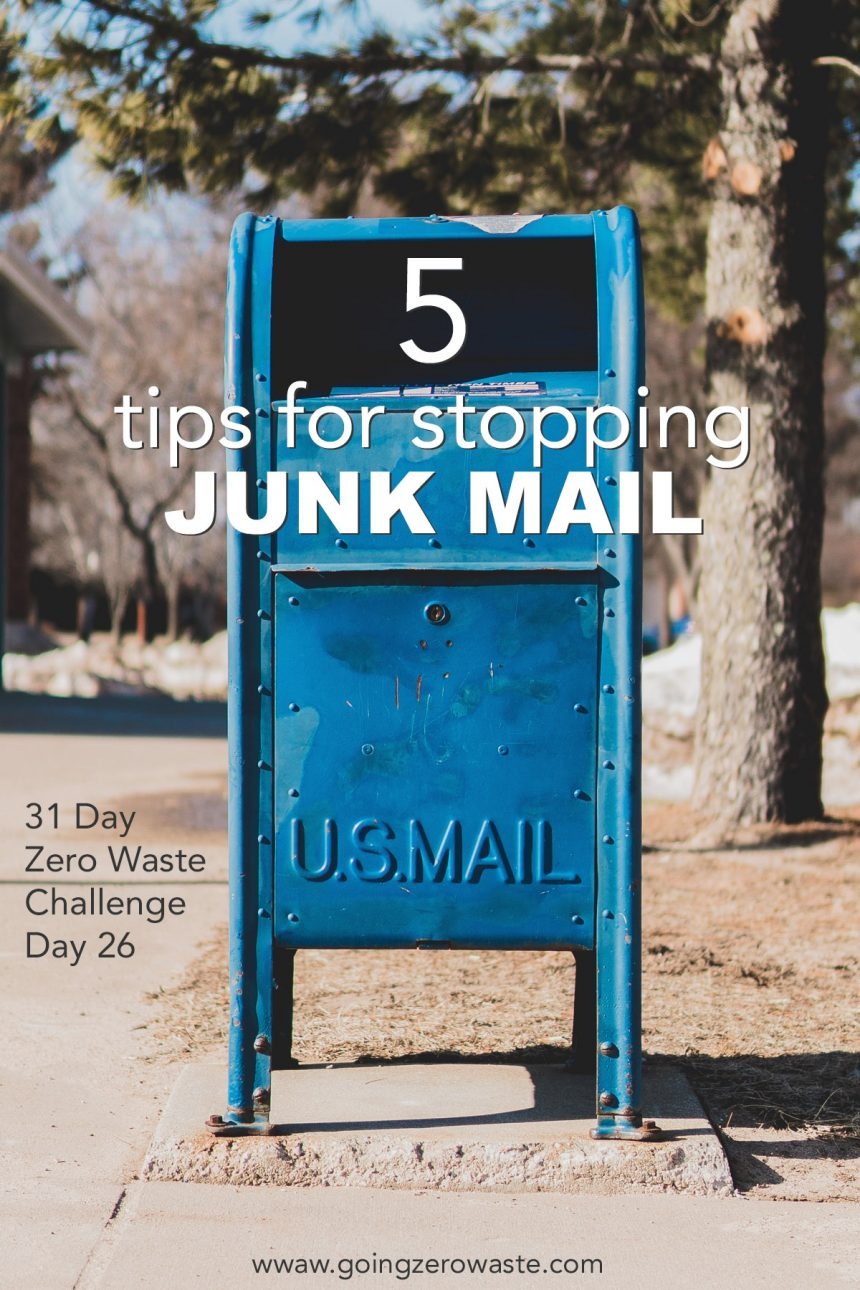 How to Stop Junk Mail – Day 26 of the Zero Waste Challenge