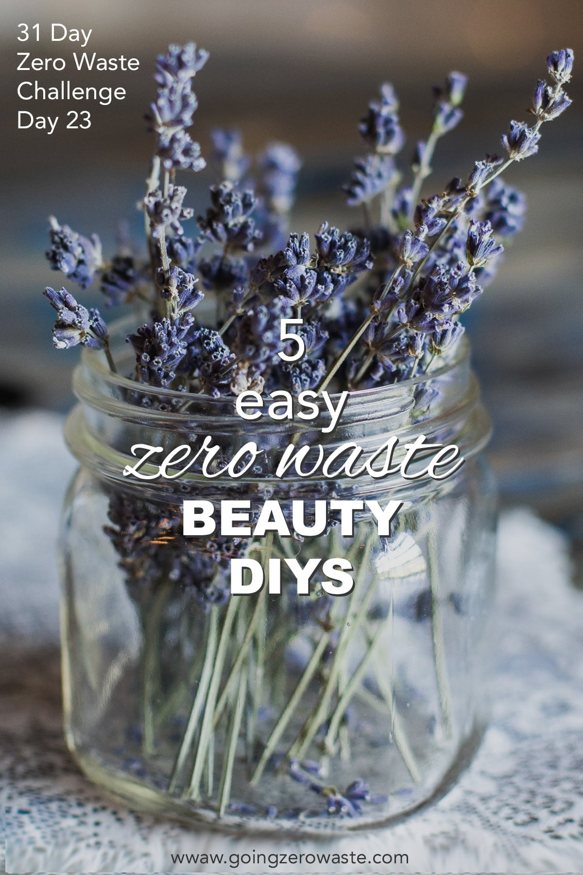 5 Easy Beauty DIYs - Day 23 of the Zero Waste Challenge from www.goingzerowaste.com #zerowaste #ecofriendly #gogreen #sustainable #zerowastechallenge #challenge #sustainablelivingchallenge #zerowaste #beauty DIYs #skincare