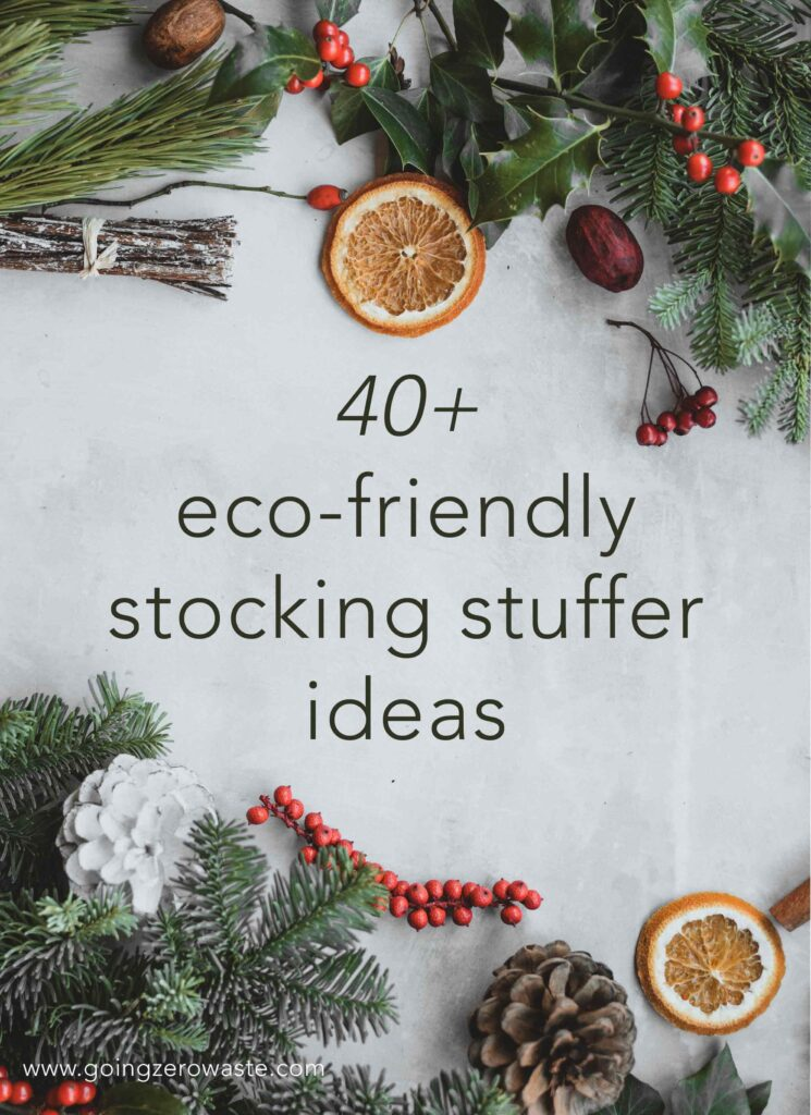 20+ Sustainable Ethical Gifts and Stocking Stuffers for Everyone on Your List from www.goingzerowaste.com #zerowaste #ecofriendly #gogreen #sustainable #gifts #giftguide #holidays #sustainablegifts