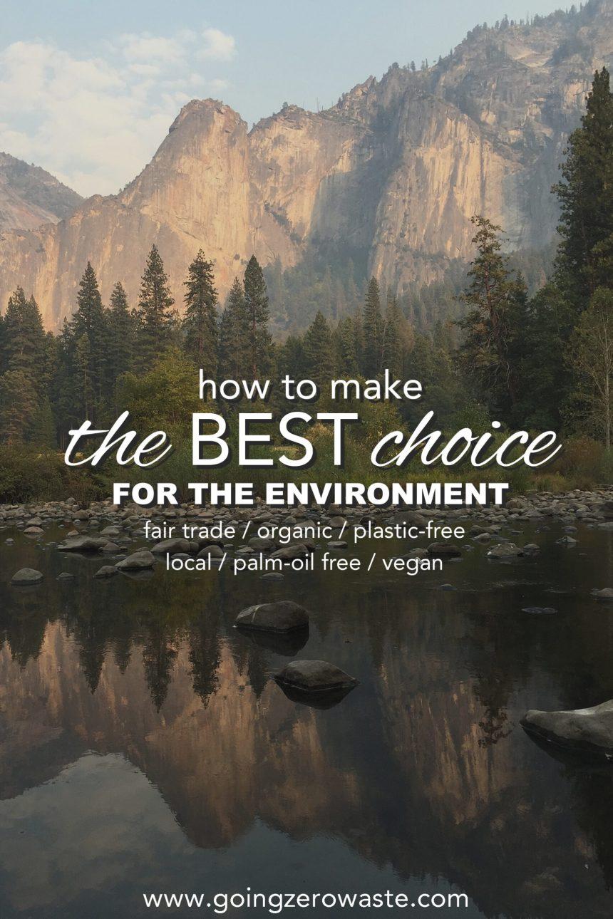 How to Make the BEST Choice for the Environment