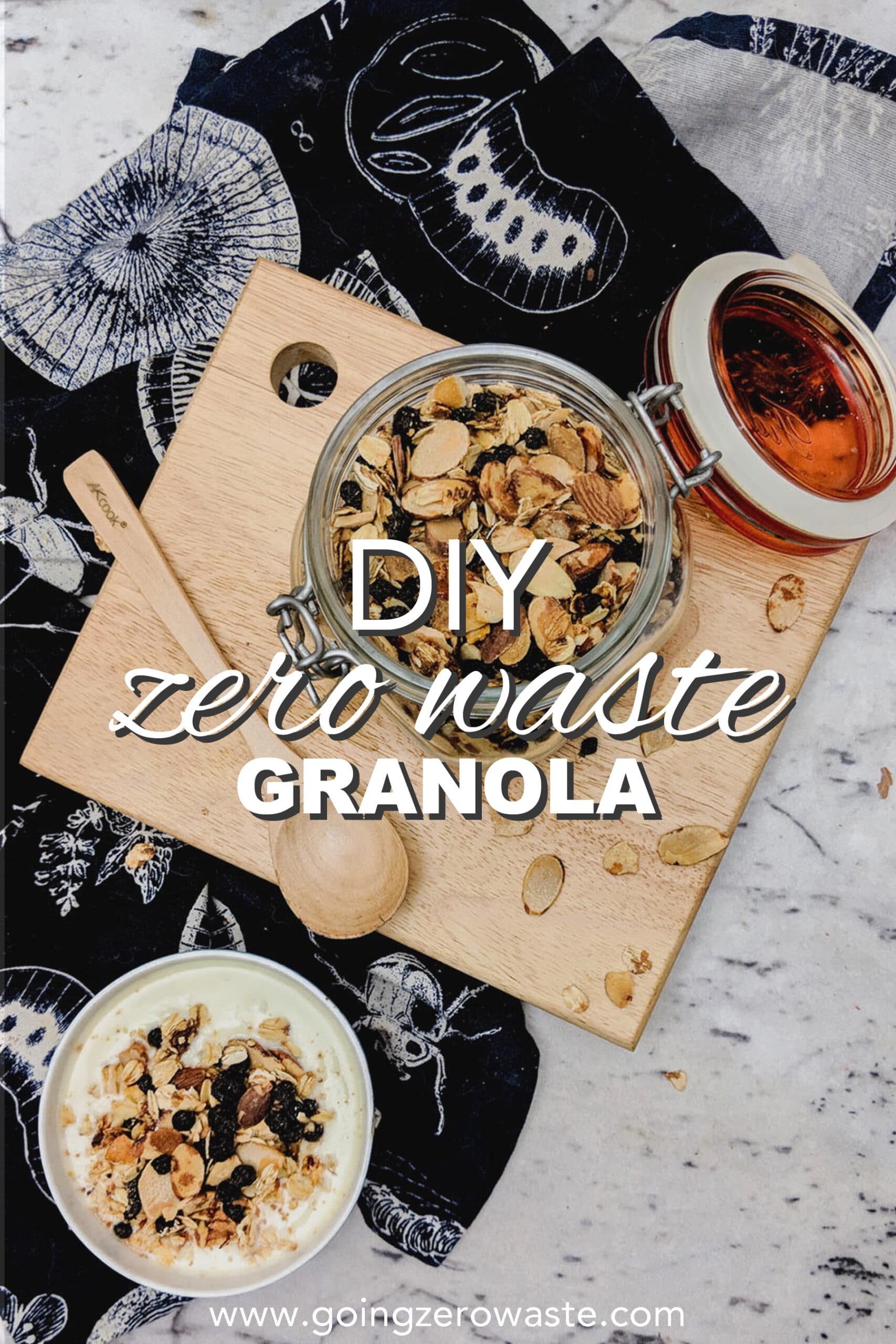 DIY, Zero Waste Granola with Dried Blueberries