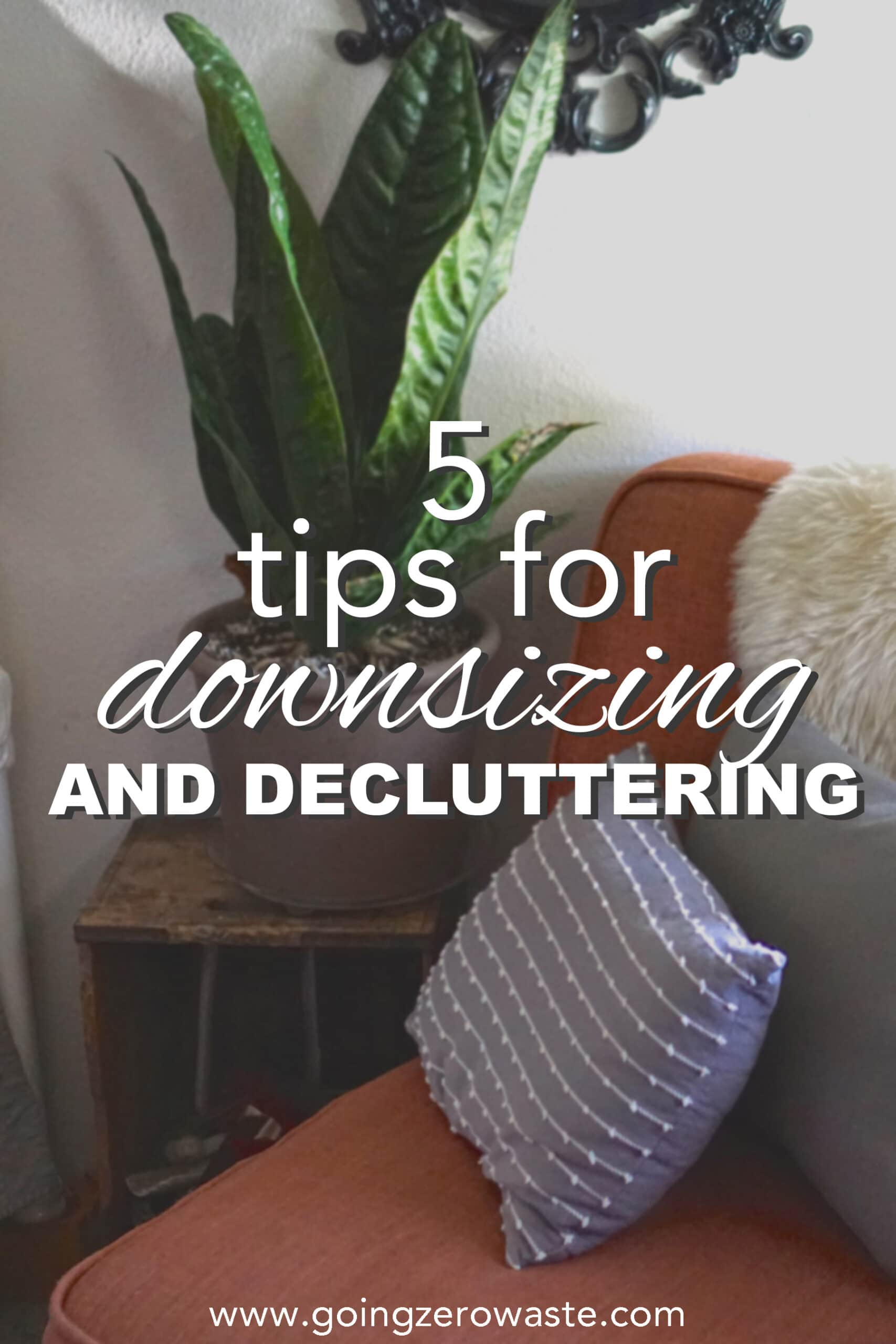 5 Tips for Downsizing and Decluttering from www.goingzerowaste.com #zerowaste #ecofriendly #gogreen #sustainable #minimalism #declutter #sparkjoy #downsize
