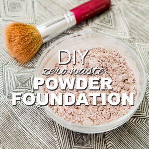 DIY, Zero Waste Powder Foundation