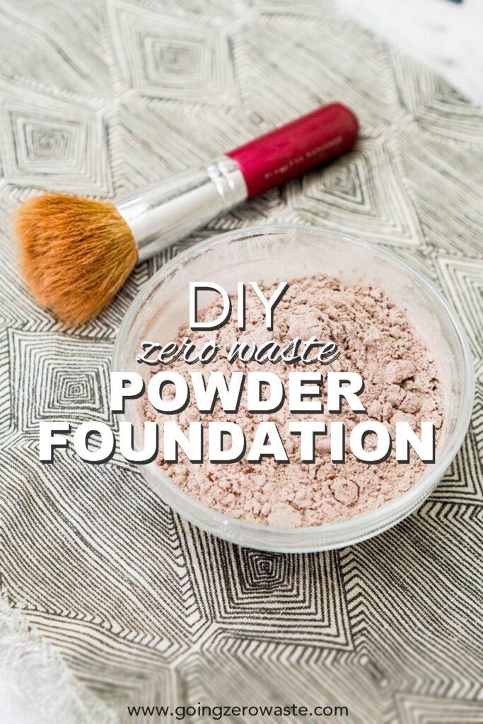 DIY, Zero Waste Powder Foundation from www.goingzerowaste.com #zerowaste #ecofriendly #gogreen #sustainable #DIY #skincare #makeup #homemade