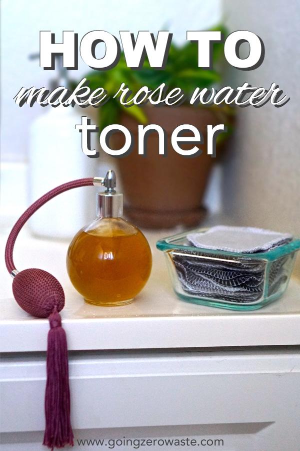 How to make rose waste toner