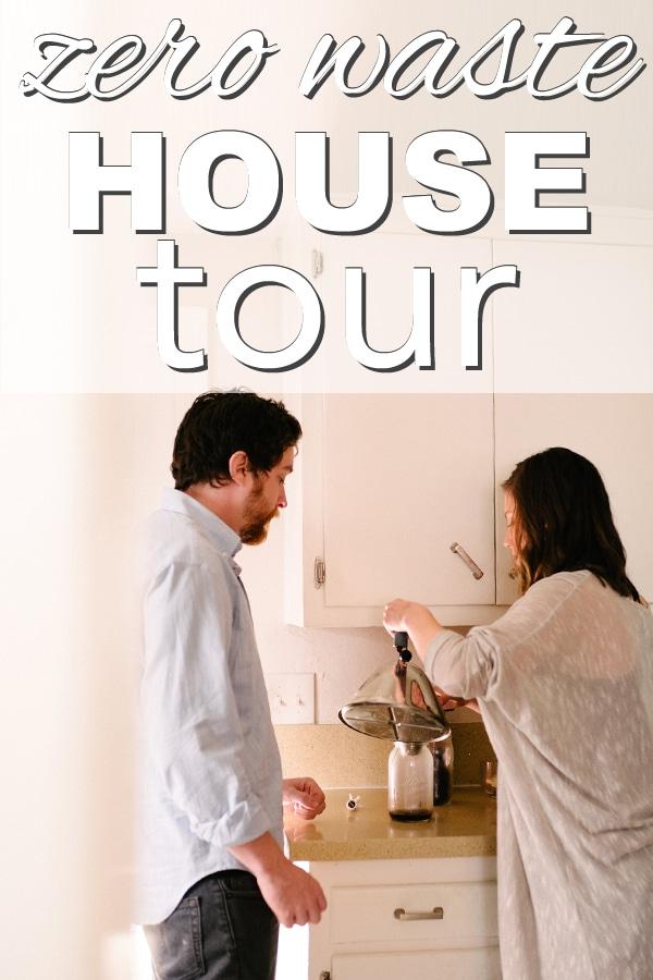Zero Waste House Tour from www.goingzerowaste.com #zerowaste #sustainableliving #gogreen #ecofriendly #hometour #home #engagementphotos
