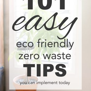 101 Easy Eco Friendly, Zero Waste Tips