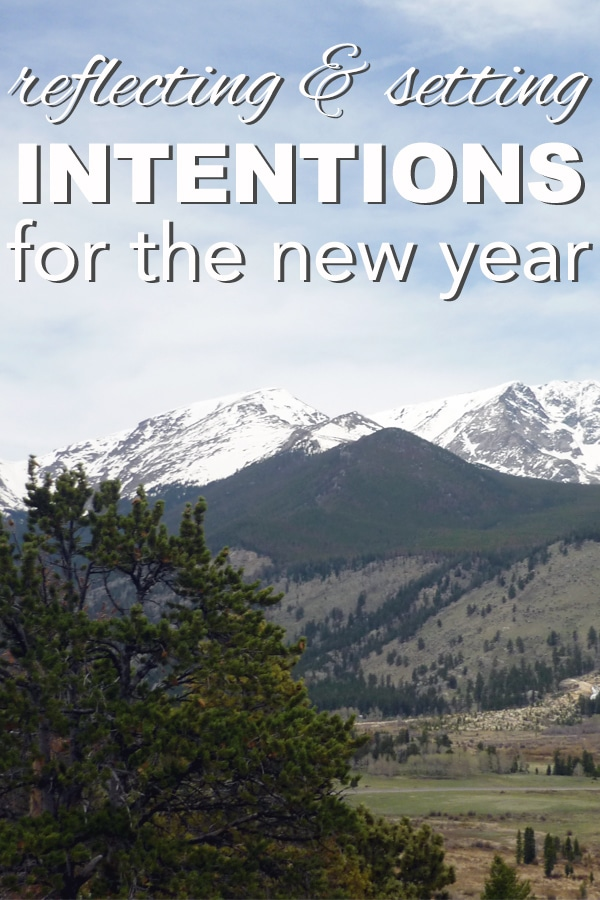 reflecting and setting intentions for the new year from www.goingzerowaste.com