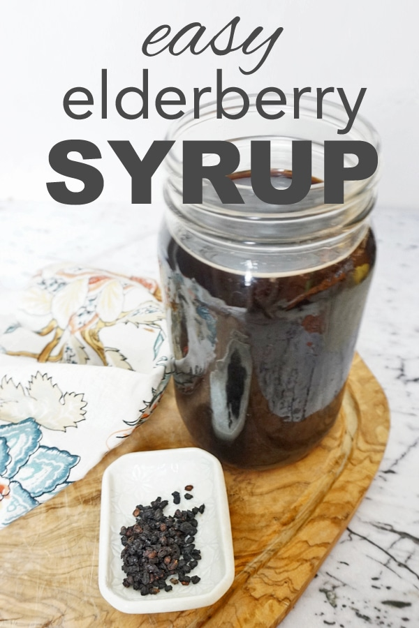 Easy, DIY elderberry syrup