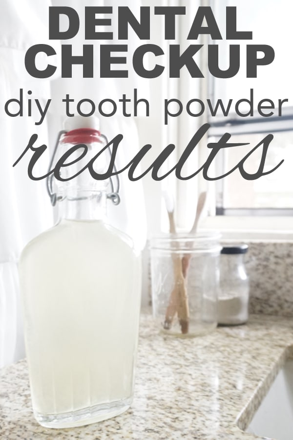 Dental Checkup, DIY Tooth Powder Results from www.goingzerowaste.com #DIY #Toothpowdere #Dental #OralCare #Sustainable #EcoFriendly