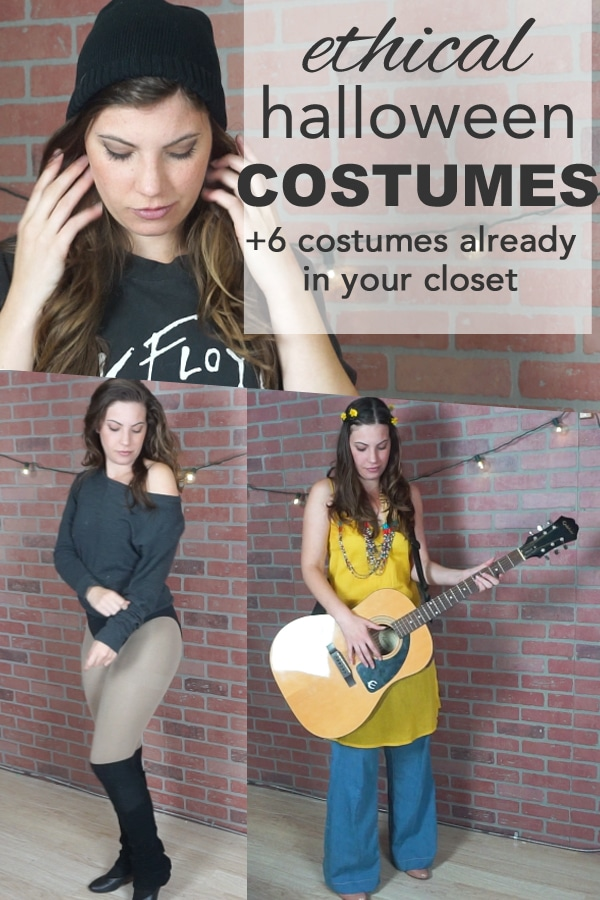 ethical and sustainable halloween costumes from www.goingzerowaste.com #costumes #halloween #zerowaste #lowwaste #sustainable #ethical #slowfashion #ethicalfashion #sustaianblefashion #easyhalloweencostumes #easy #simple
