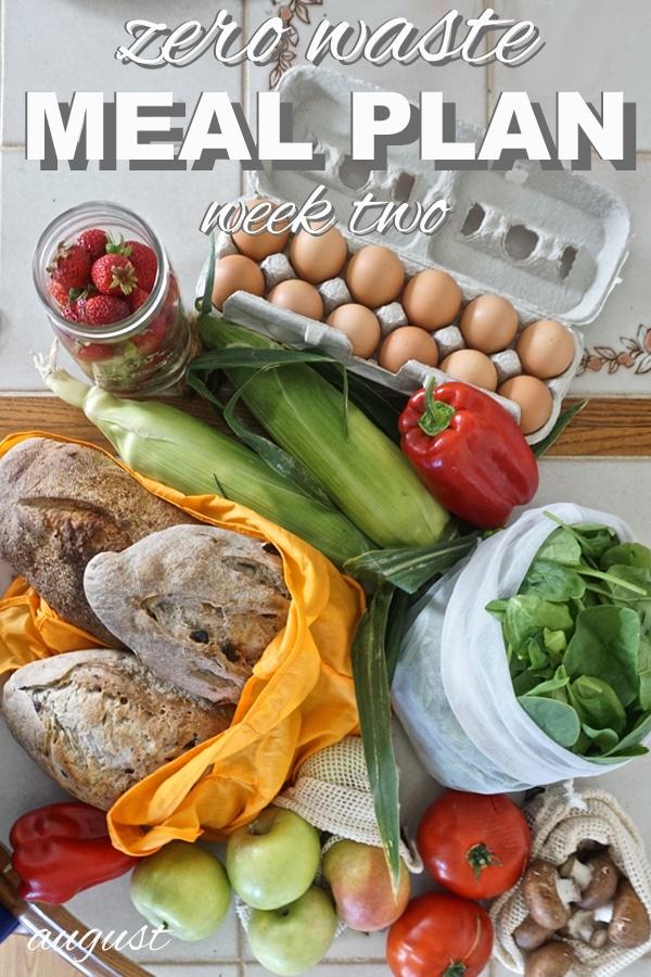 zero waste meal plan 2 from www.goingzerowaste.com #mealplan #zerowaste #plantbased