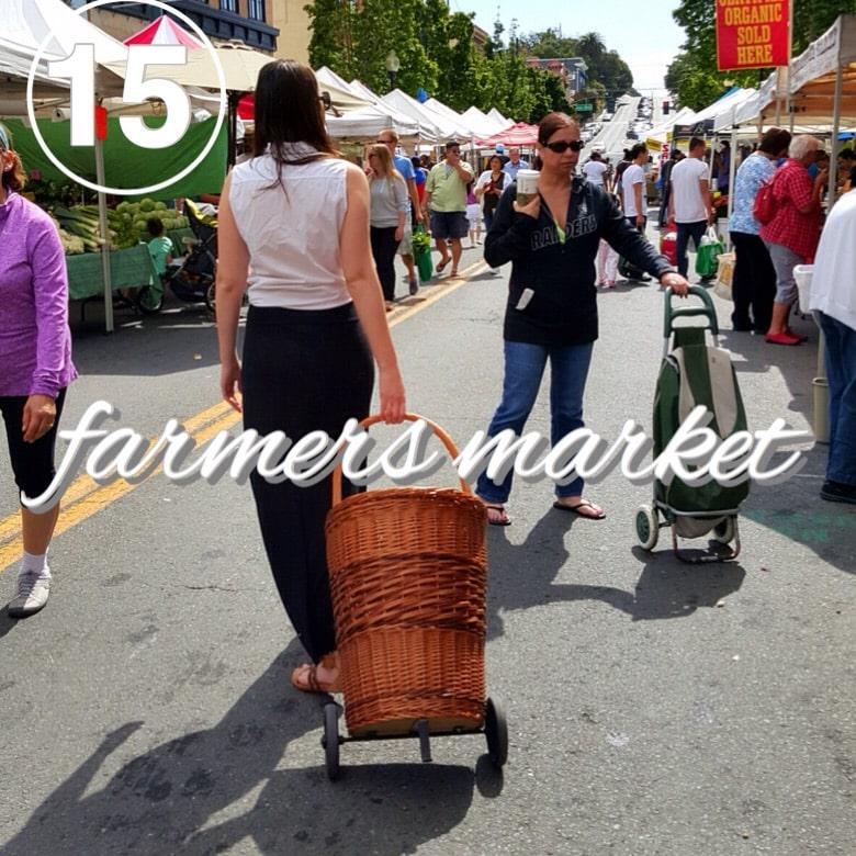 zero waste at the farmers market