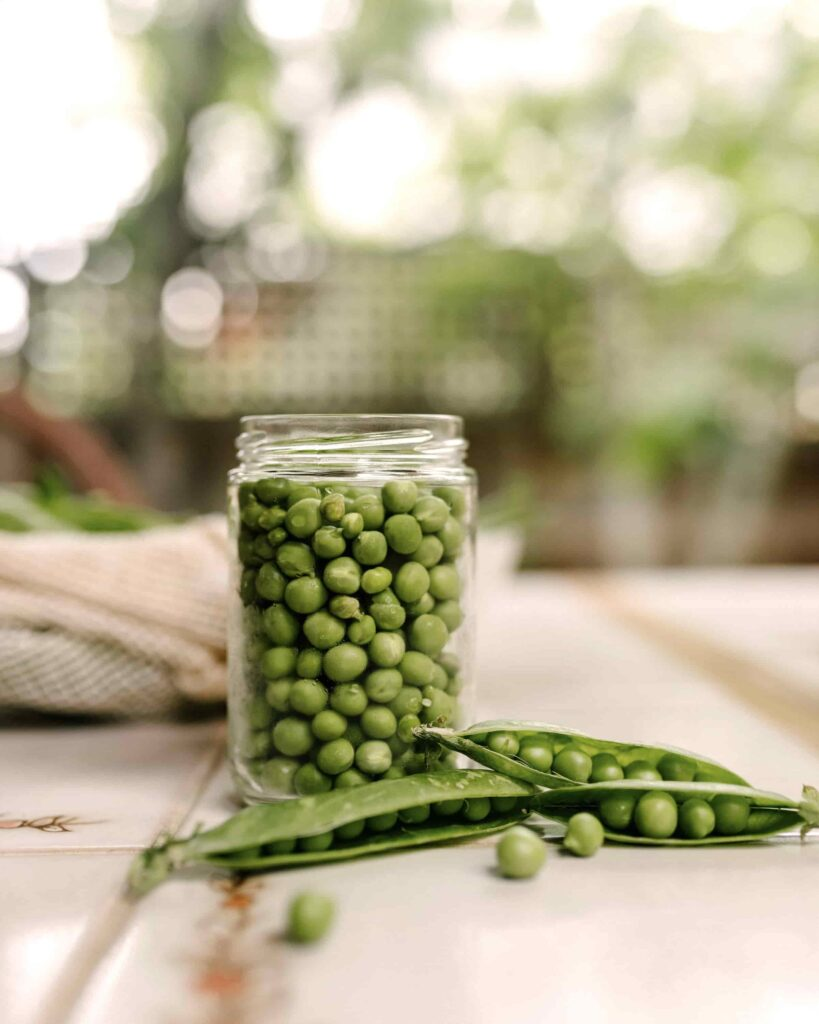 a jar of peas