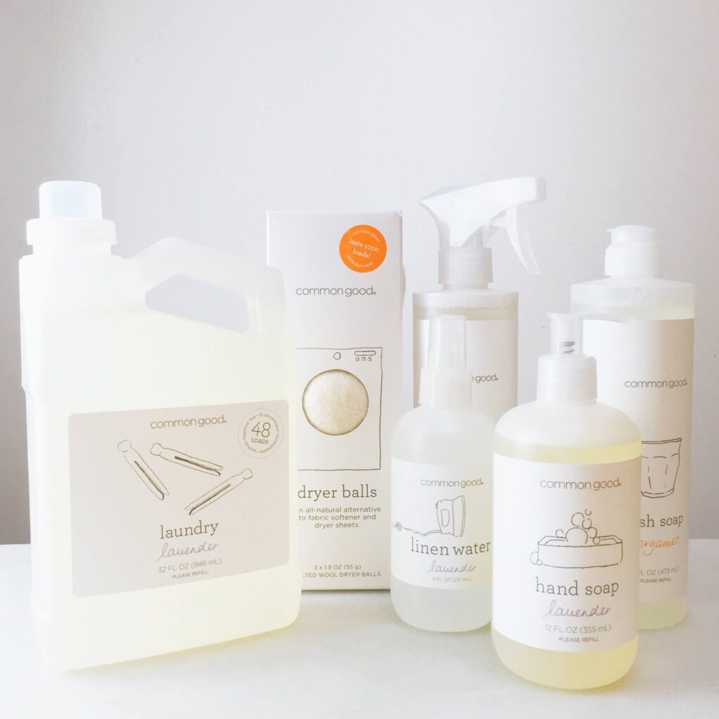 organic, all natural, eco friendly common good cleaning products