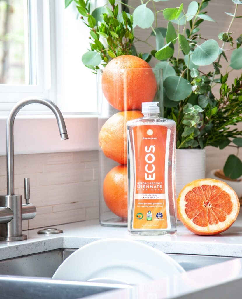 organic, all natural, eco friendly ecos dish soap