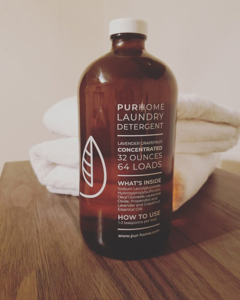 organic, all natural, eco friendly PurHome laundry detergent concentrate