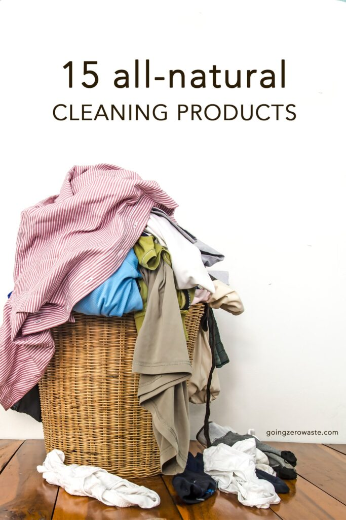 15 all natural and eco-friendly cleaning products from www.goingzerowaste.com #zerowaste #cleaning #cleaningproducts #allnatural #brands #cleaningproducts #DIY #lowwaste #ecofriendly #allnatural #naturalcleaning #sustainablebrands