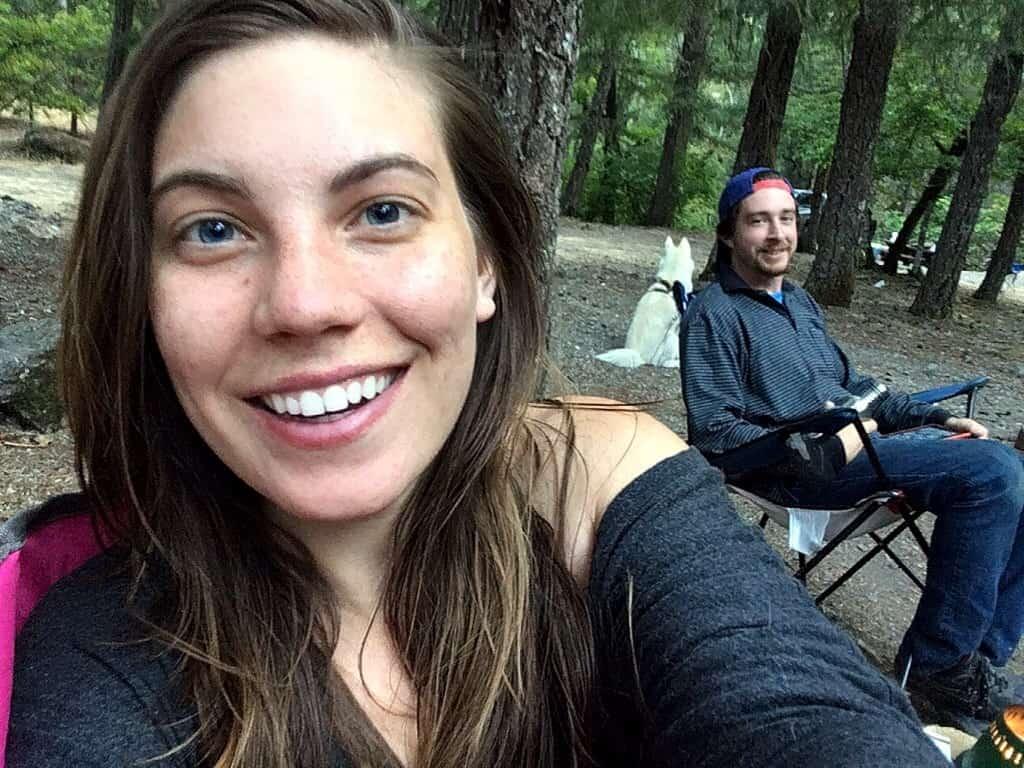 Kathryn Kellogg on a zero waste camping trip.
