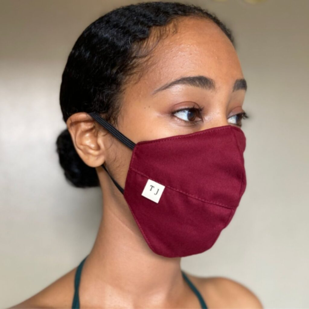 taylor jay repurposed cotton facee mask