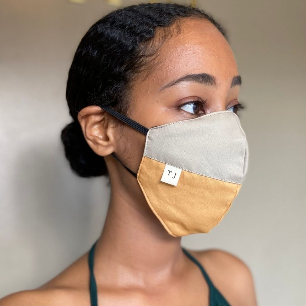 taylor jay repurposed cotton face mask