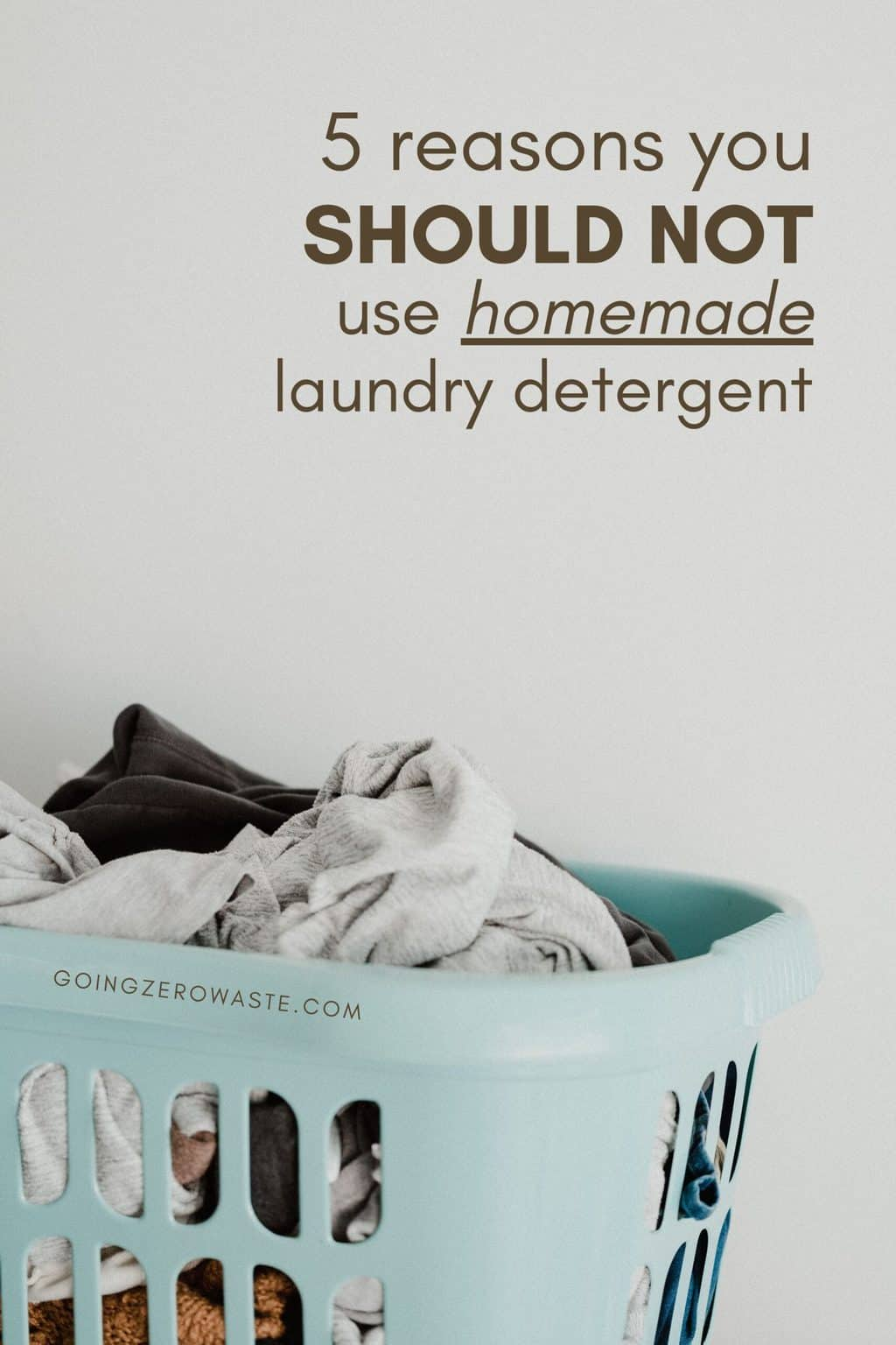 Why you should never DIY your laundry detergent