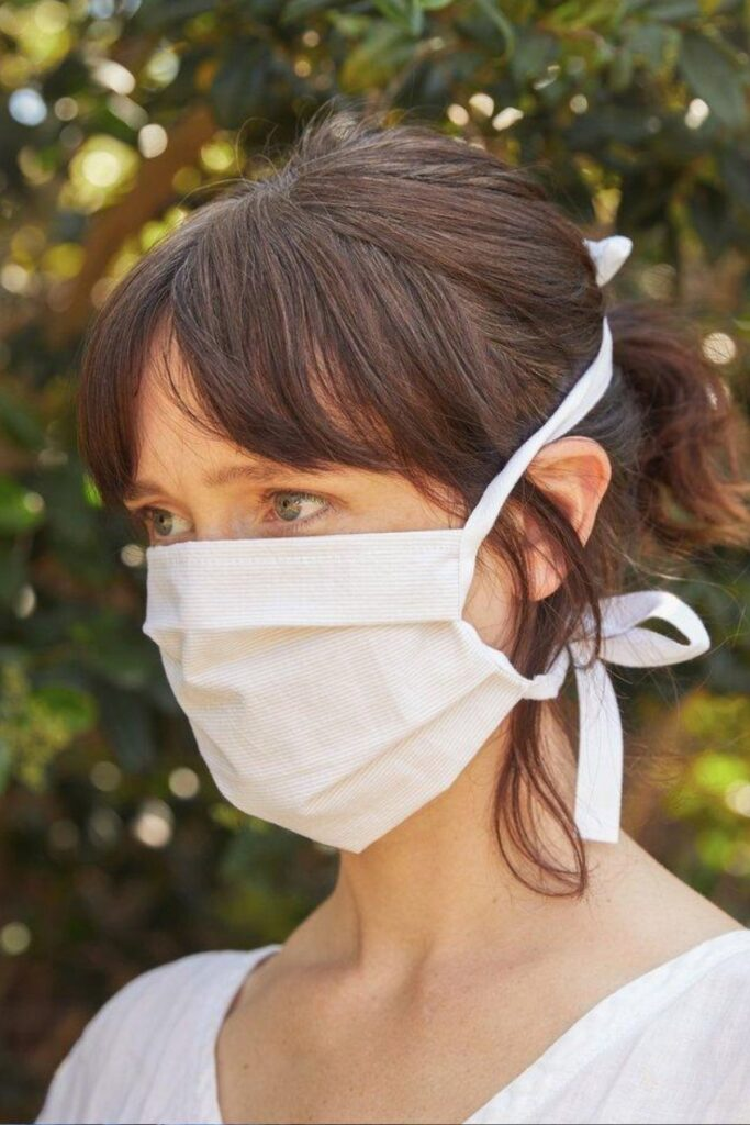 parachute, reusable organic cotton face masks