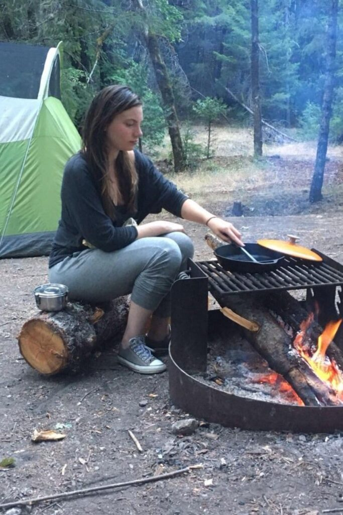 Cooking over an open flame